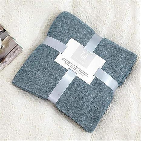 Manta de cama de muselina de algodón 100% de dos tamaños, sofá, tiro, suave y transpirable para uso en viajes, colcha de cama para adultos, manta de verano de muselina: Amazon.es: Bebé