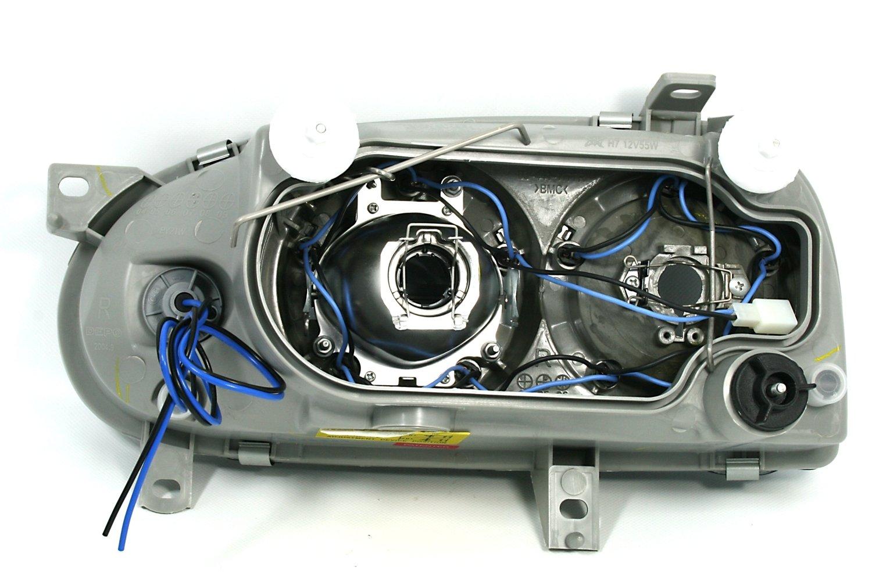 AD Tuning GmbH /& Co KG 960348 Angel Eyes Scheinwerfer Set Klarglas Schwarz