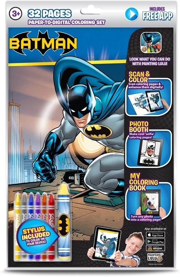 - Amazon.com: Painting Lulu Colour Book Batman Interactive Coloring Book:  Toys & Games