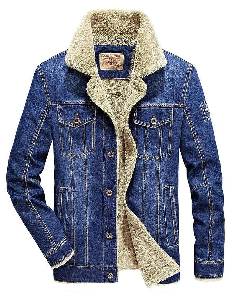 HitZoom Jeans Vest Men Punk Rock Style Rivet Cowboy Motorcycle Denim Waistcoat