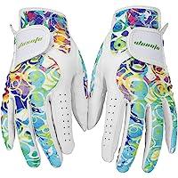 Guantes de golf para mujer Wosofe de piel suave, transpirables para guantes antideslizantes, 1 par