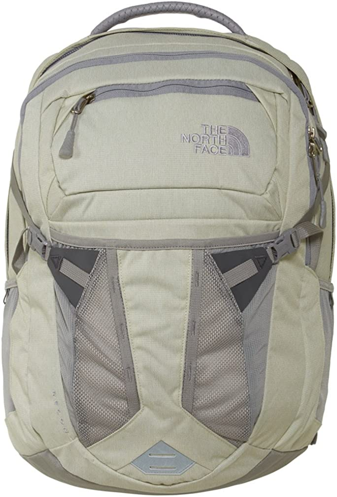 The North Face Womens Recon Backpack Vaporous Grey Heather Metallic Silver