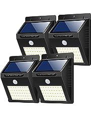 Yacikos  Luce Solare da Esterno, 40 LED  [4 Pezzi]  Lampada Solare con Sensore di Movimento Luci Solari Parete Lampada Solare Impermeabile Solare Esterno per Giardino, Vialetto, Percorso e Cortile