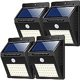 Yacikos Solar Light - Lámpara Solar Exterior con Sensor de Movimiento para Jardín, 1500mAh, Paquete de 4