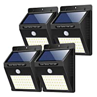 Solar Lights Outdoor 40 LED, [4 Pack] Yacikos Solar Security Lights Motion Sensor Solar Powered Lights Waterproof Super Bright Solar Lamps Wireless Security Wall Lights for Garden, Fence, Yard, Patio