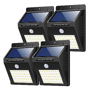 Lampade Solari Da Giardino Amazon.Yacikos Luce Solare Da Esterno 40 Led 4 Pezzi Lampada Solare Con Sensore Di Movimento Luci Solari Parete Lampada Solare Impermeabile Solare Esterno