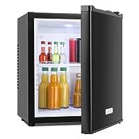 Klarstein MKS-10 Mini Kühlschrank Minibar Getränkekühlschrank (19 Liter Volumen, 0 dB, Innen-Beleuchtung) schwarz