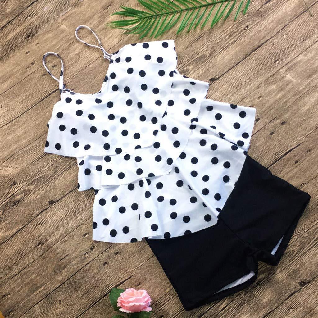 Deloito Bikini Women Printing Swimwear Ladies Tankini Sets with Boy Shorts Swimming Costumes Two Piece Bikini Swimsuits