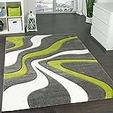 Designer Teppich Moderner Teppich Wohnzimmer Teppich Kurzflor ... Wohnzimmer Grau Grun