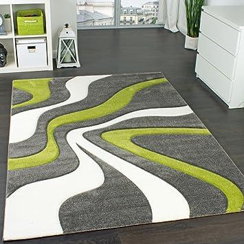 Designer Teppich Moderner Teppich Wohnzimmer Teppich Kurzflor Teppich mit Kontur