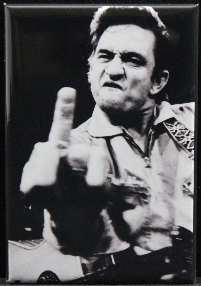 Johnny Cash B & W Photo Refrigerator Magnet.