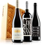 Sendagift by Virgin Wines French Red Wine Gift Trio In Wooden Gift Box