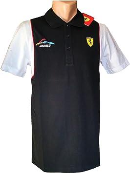 Ferrari/Fórmula 1 – Mens Santander Alonso Polo Camiseta – Negro ...