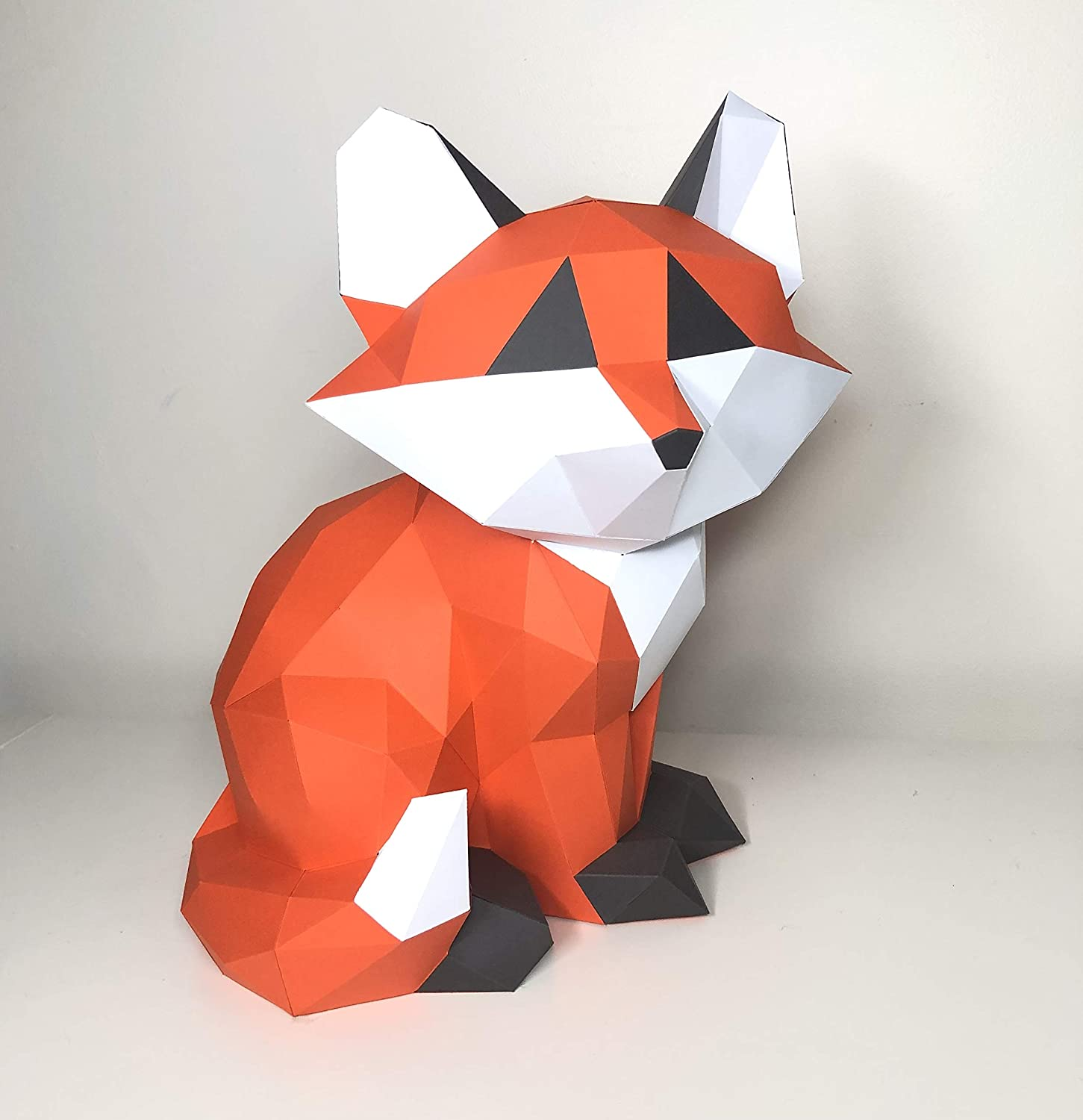 Origami fox/How to make a paper fox/Easy diy paper fox for kid ... | 1500x1451
