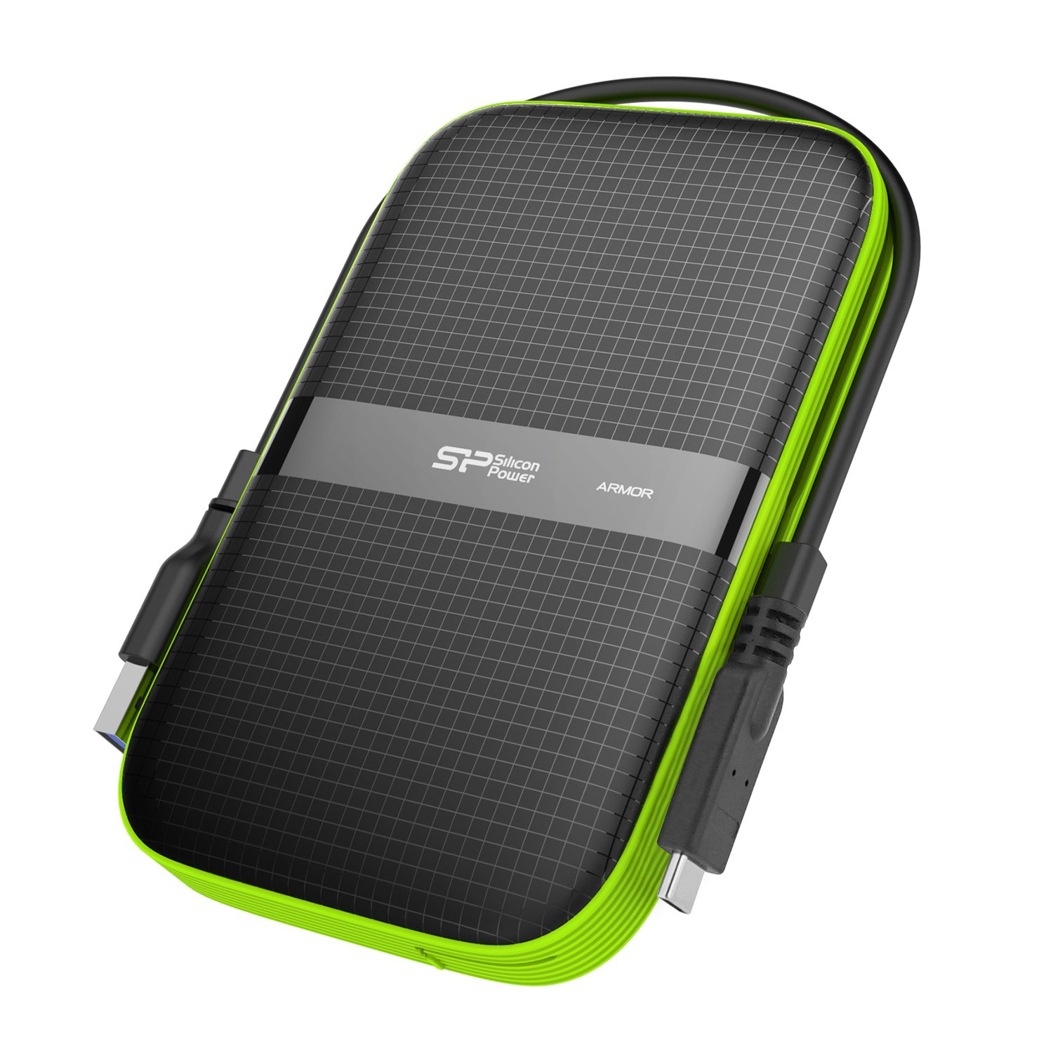 Silicon Power 2TB Type C External Hard Drive USB 3.0 Rugged Armor A60 Shockproof/Water-Resistant, Dual Cables Included (Type C to Type A & Type A to Type A) by Silicon Power