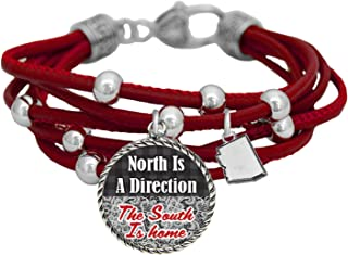 product image for Arizona North is a Direction South is Home Red Leather Bracelet Southern Jewelry