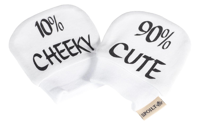 SR - 90% Cute 10% Cheeky - 100% Biobaumwolle Kratzhandschuhe Spoilt Rotten