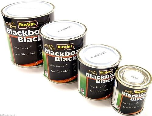 Black Board Paint School Blackboard Paint Chalk Board Paint Matt Black 4 Sizes (125ml)