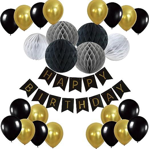 7 opinioni per Recosis Bandiere di Happy Birthday Bandierine con Palle a Nido d'ape e Festa