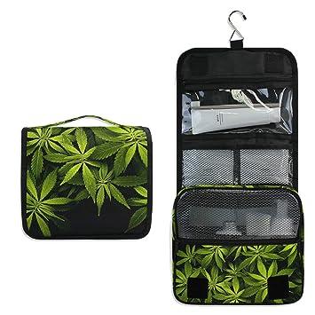 Amazon.com: DoubleCW Marijuana Weed - Neceser de viaje ...