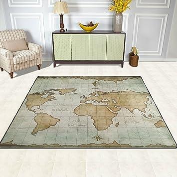 Amazon yzgo vintage marine old world map kids area rug art map yzgo vintage marine old world map kids area rug art map non slip floor gumiabroncs Images