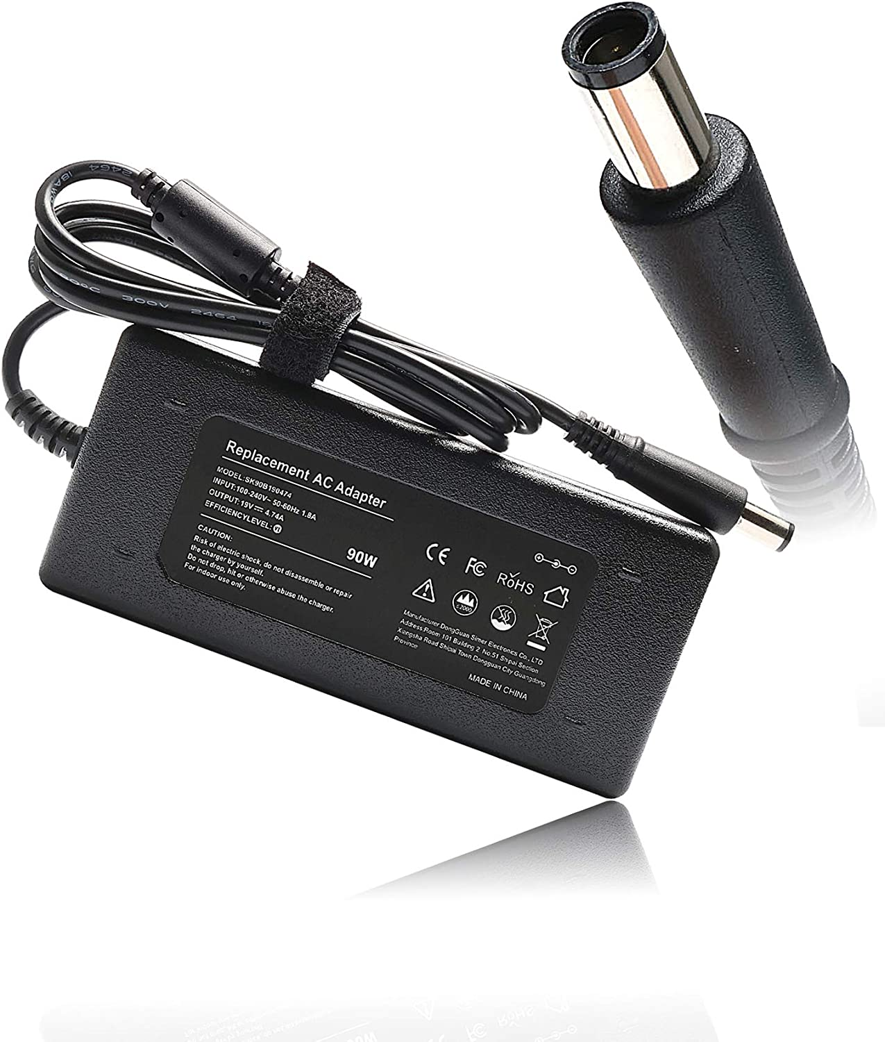 19V 4.74A 90W AC Adapter Laptop Charger for HP Pavilion dm1 dm3 dm4 dv3 dv4 dv5 dv6 dv7 m6 m7 Charger Entertainment Notebook PC Series Power Supply Cord Plug
