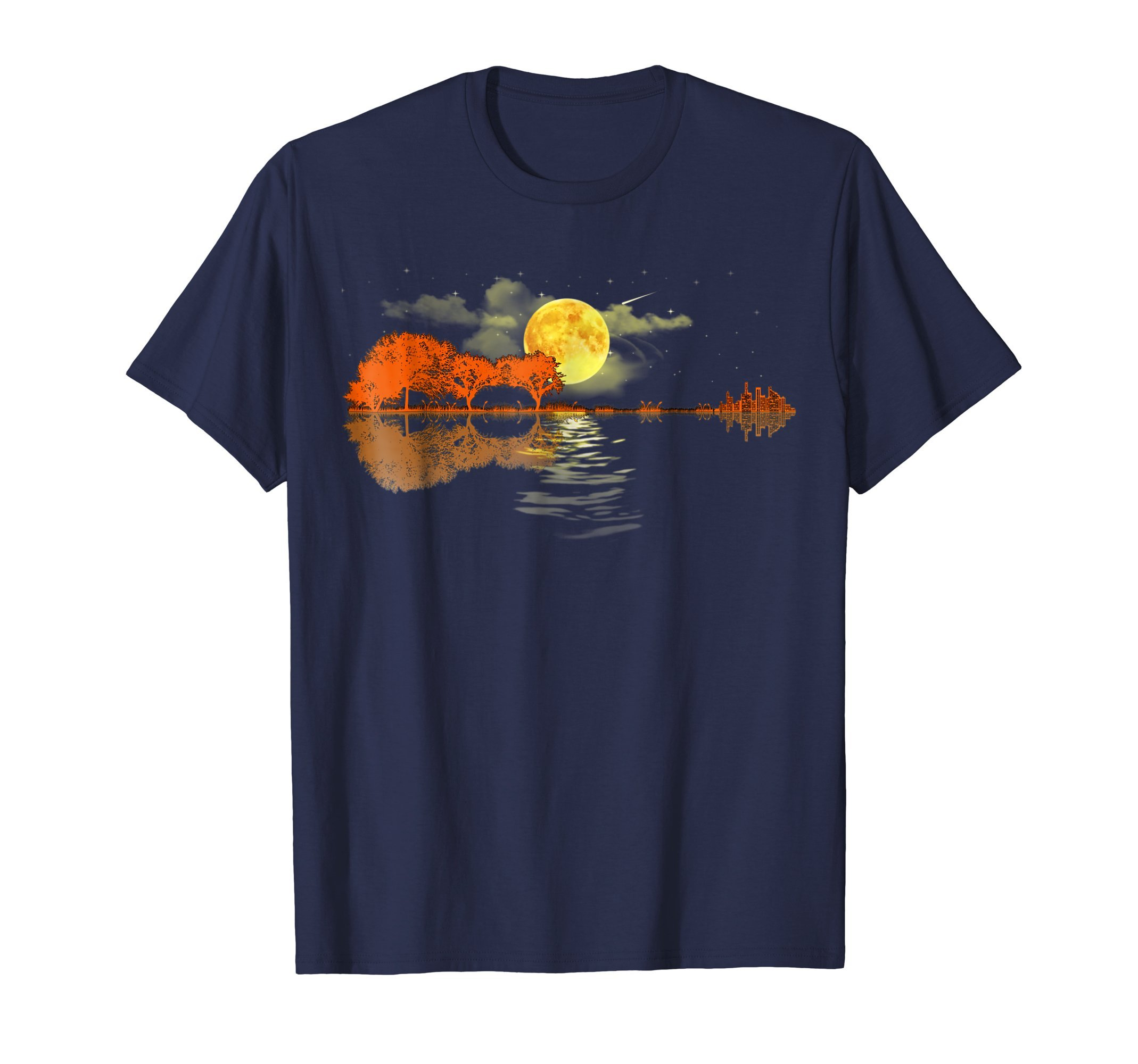 Guitar Lake Shadow Love, Guitar T-Shirt by Guitar T-shirt