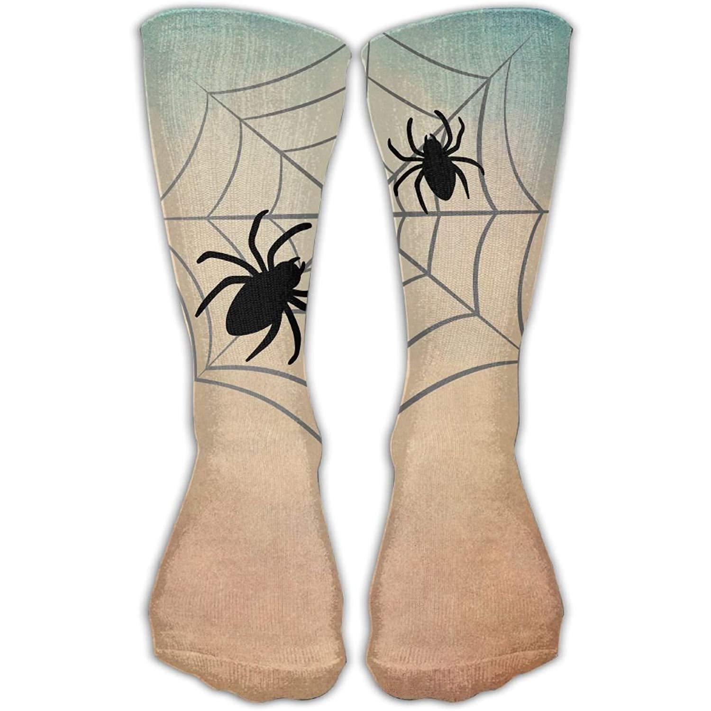 Spider Web Unisex Tube Socks Crew Over The Calf Soccer Comfort Stockings For Sport And Travel