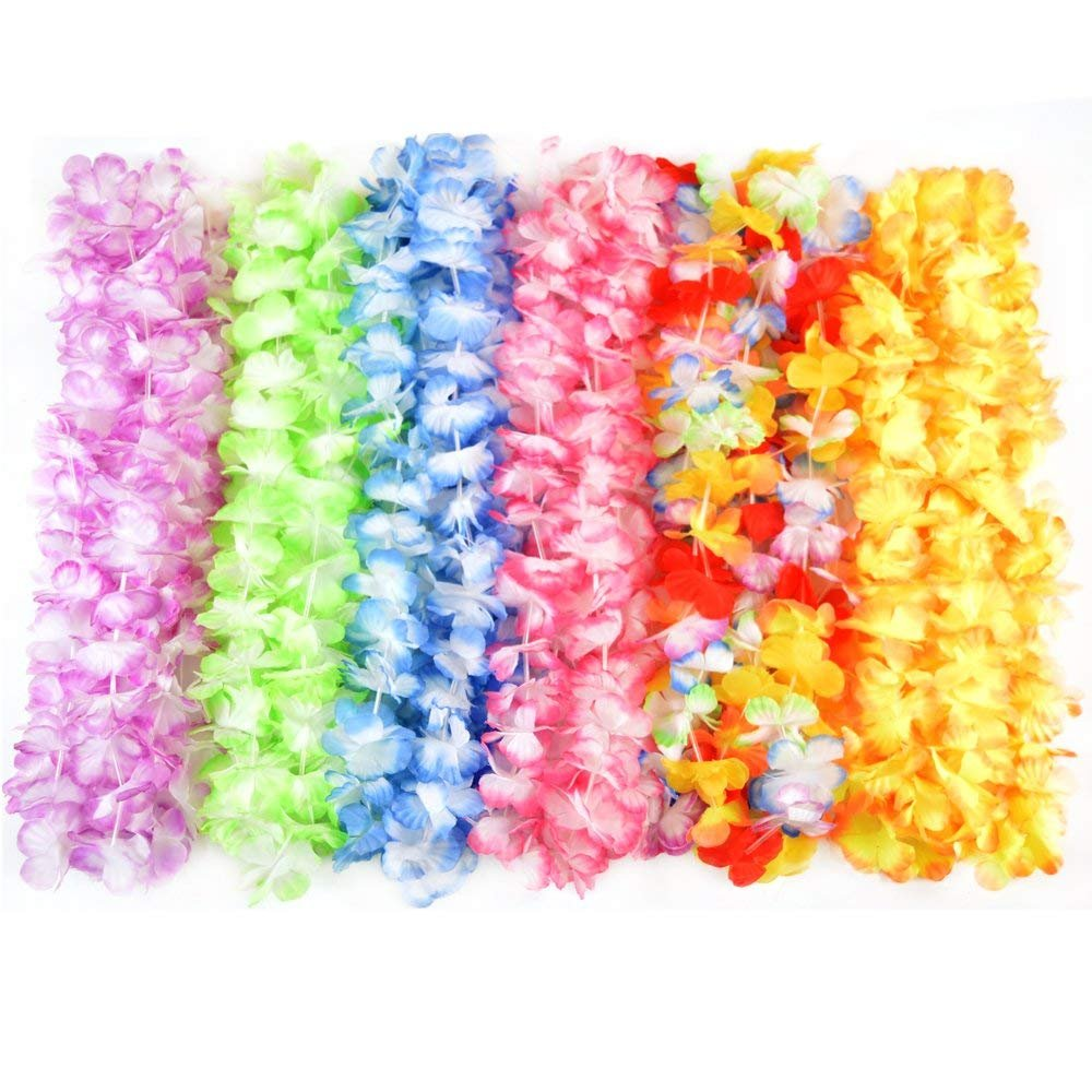 Amazon Hawaiian Leis Flower Necklace Party 36 Count Tropical