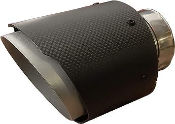 Cartuner Carbon Auspuffblende Endrohr Auspuff 100mm Anschluß 65mm Exclusiv Auto