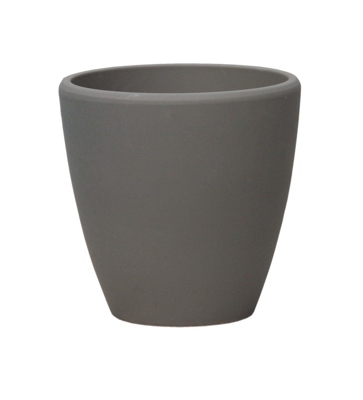 gro er pflanztopf pflanzk bel frostsicher rund 45 x 45 cm farbe rauchgrau form. Black Bedroom Furniture Sets. Home Design Ideas
