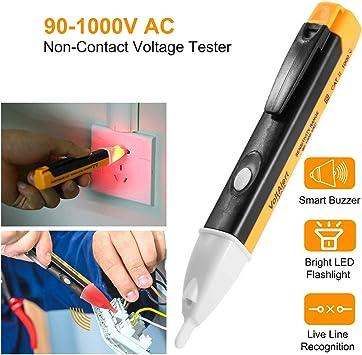 Amazon.com: Projis - Detector de voltaje eléctrico (LED, AC ...