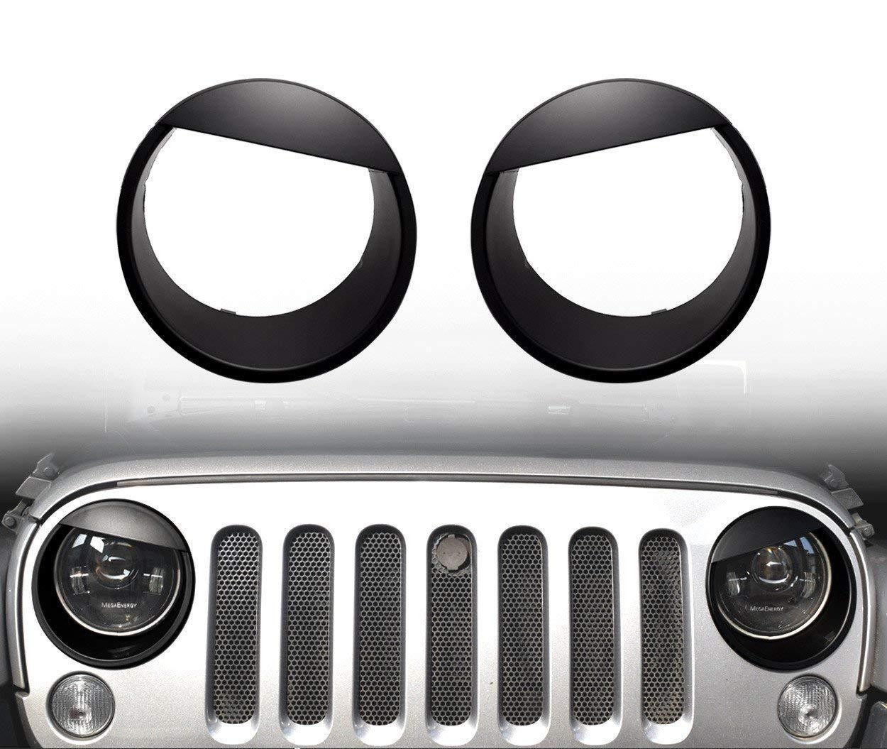SXMA nero fanale Angry Bird Style Trim cover ABS