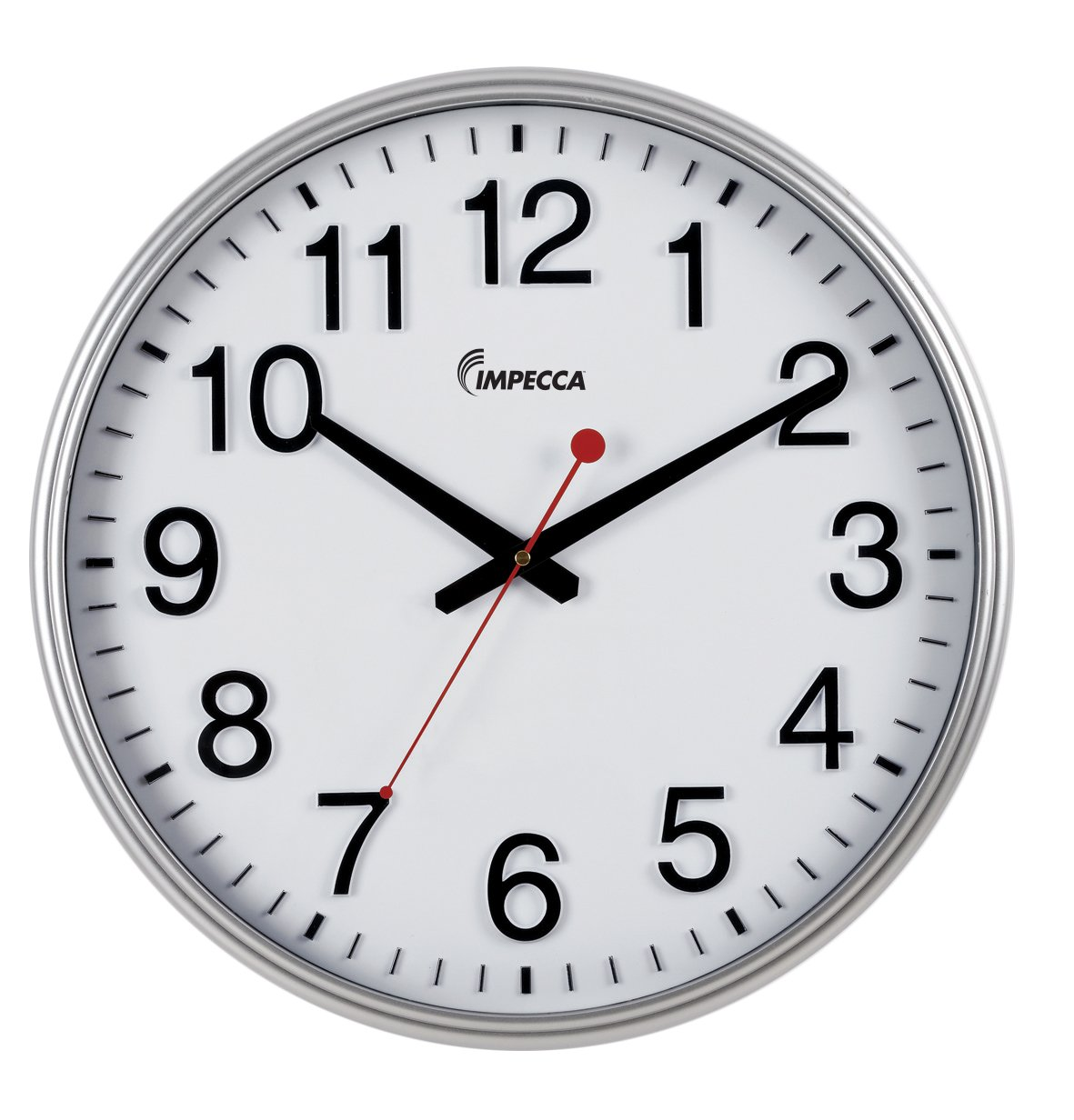 Amazon impecca non ticking 18 inch extra large railway wall amazon impecca non ticking 18 inch extra large railway wall clock silver home kitchen amipublicfo Gallery