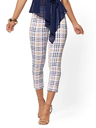 91cb46f871baf Women's Petite High-Waist Pull-On Crop Pant - Plaid at Amazon Women's  Clothing store: