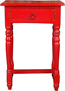 Sunset Trading Shabby Chic Cottage Desk, Small, One Size, Red