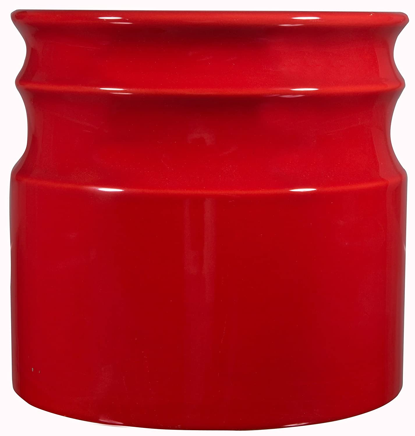 Home Essentials Beyond 66379 Turino Rings Utensil Crock 7.5 D inch , Red