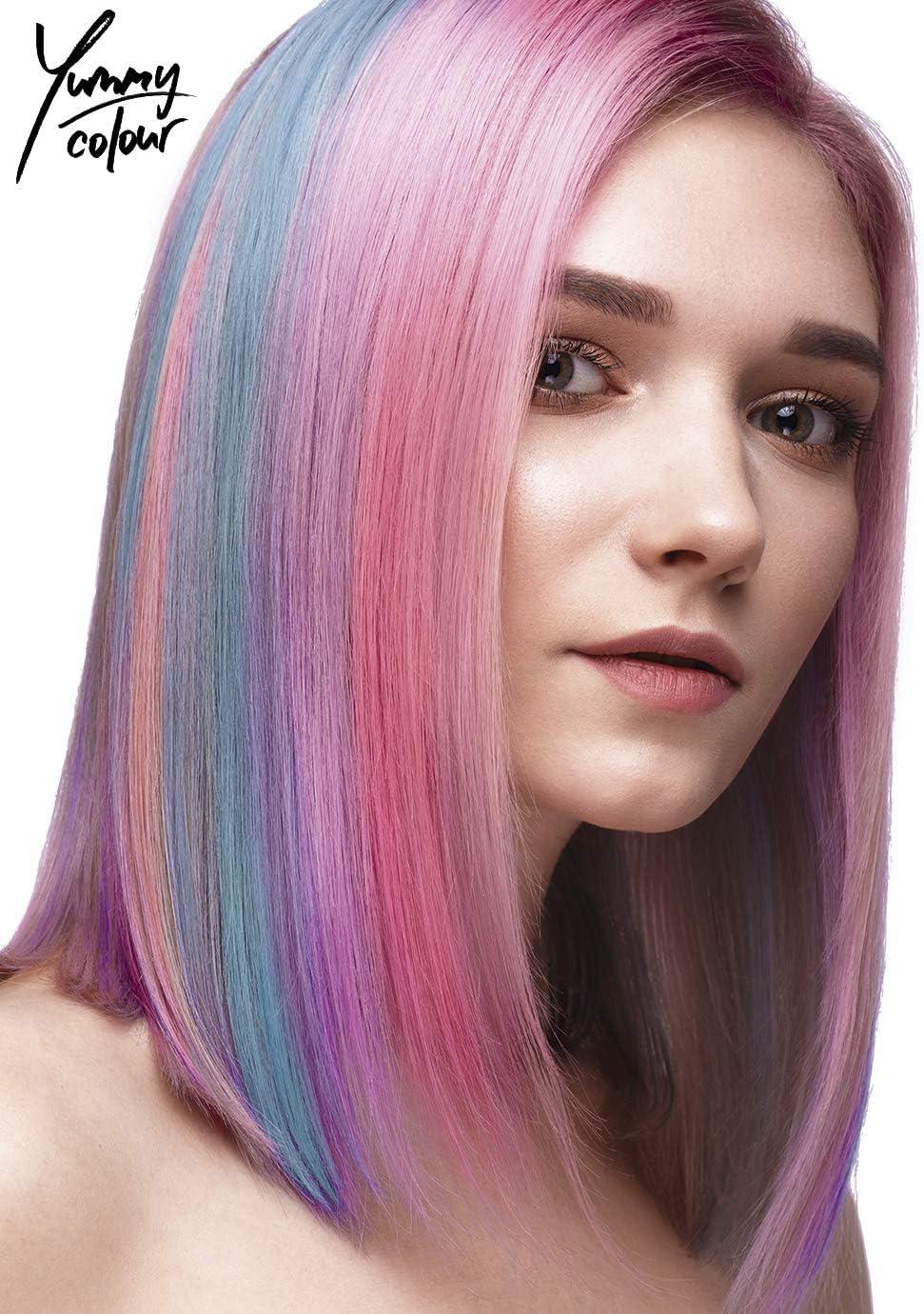 Stargazer Yummy Colour - Juego de tiras semipermanentes para teñir el cabello, color pastel