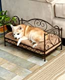 The Lakeside Collection Scrolled Metal Pet Beds