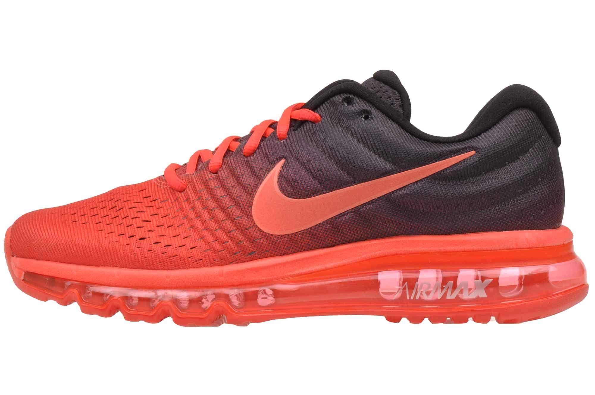 b456dd50f2 NIKE Mens Air Max 2017 Running Shoes (14, Bright Crimson/Total Crimson/