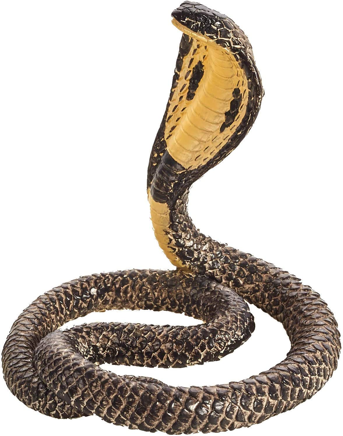 Halloween Fake Realistic Rubber Toy Figure King Cobra Snake Props Scary Gag NEW