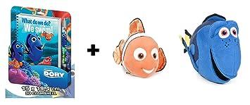 """BUSCANDO A DORY: Pack 2 peluches Nemo y Dory (12""""/30cm)"""
