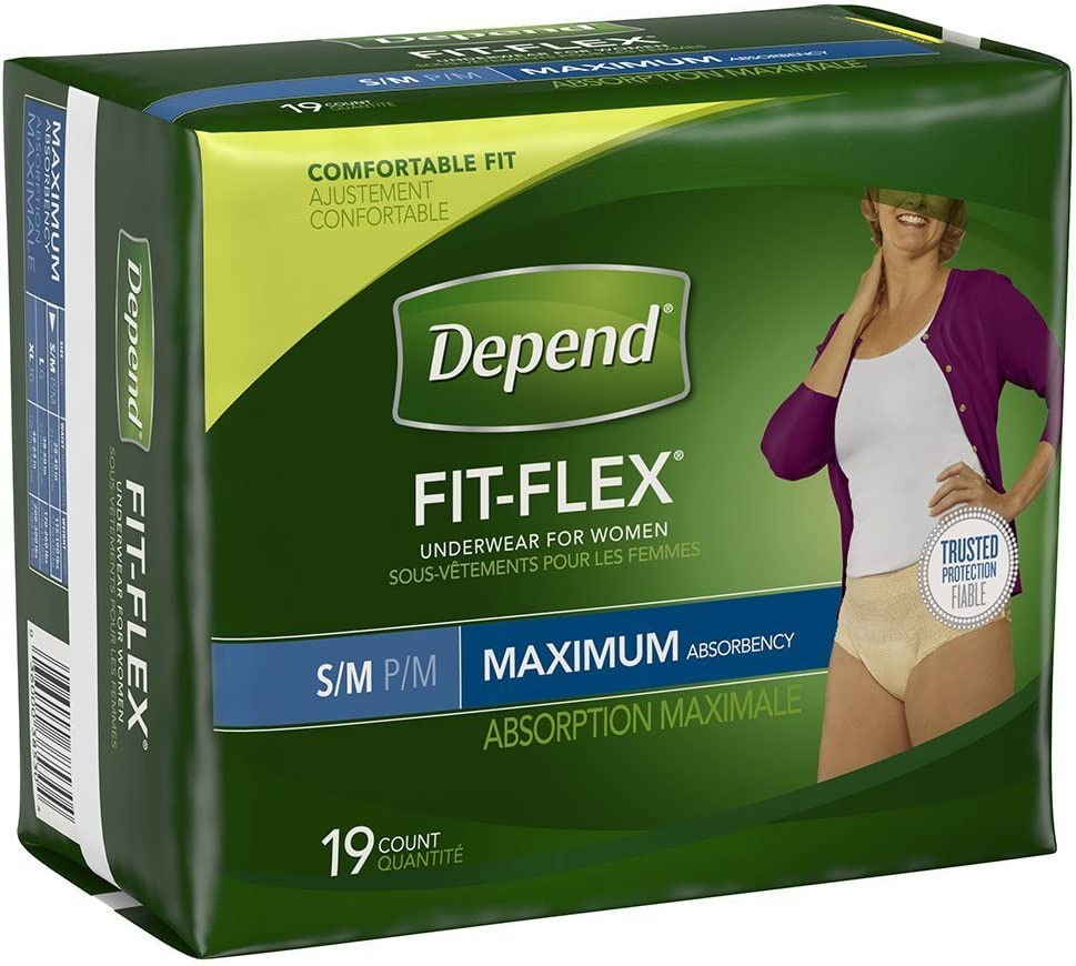 Depend for Women Underwear, [Small/Medium], Maximum Absorbency, 18-Count Packages