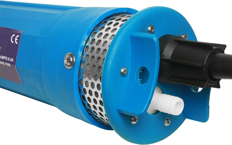 Solar Tiefbrunnenpumpe 12V 70m PV Tauchpumpe Kunststoffgeh/äuse Pumpe
