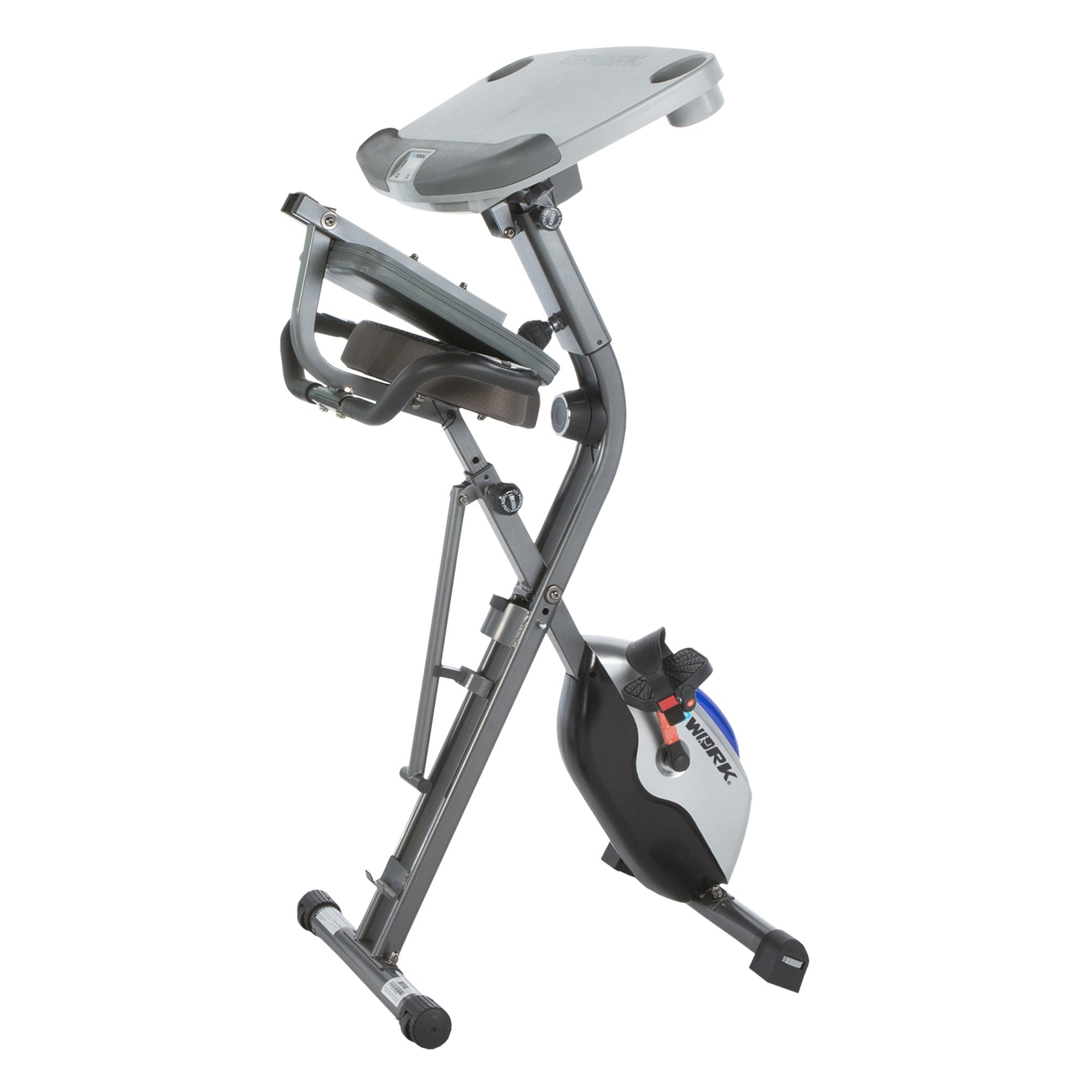 Exerpeutic ExerWorK 1000 Fully Adjustable Desk Folding Exercise Bike with Pulse by Exerpeutic (Image #3)