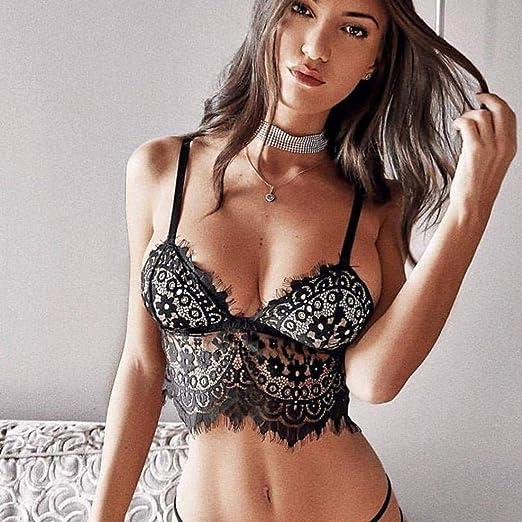 ❤ Sujetador de Encaje de Mujer lencería, Moda Plus Size Sexy Sujetador de pestañas Ropa Interior Ropa de Dormir Absolute: Amazon.es: Ropa y accesorios
