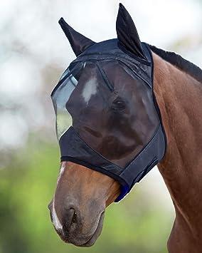 Harrison Howard CareMaster Masque Anti,Mouches Protection Anti,UV avec  Oreilles Noir Poney (