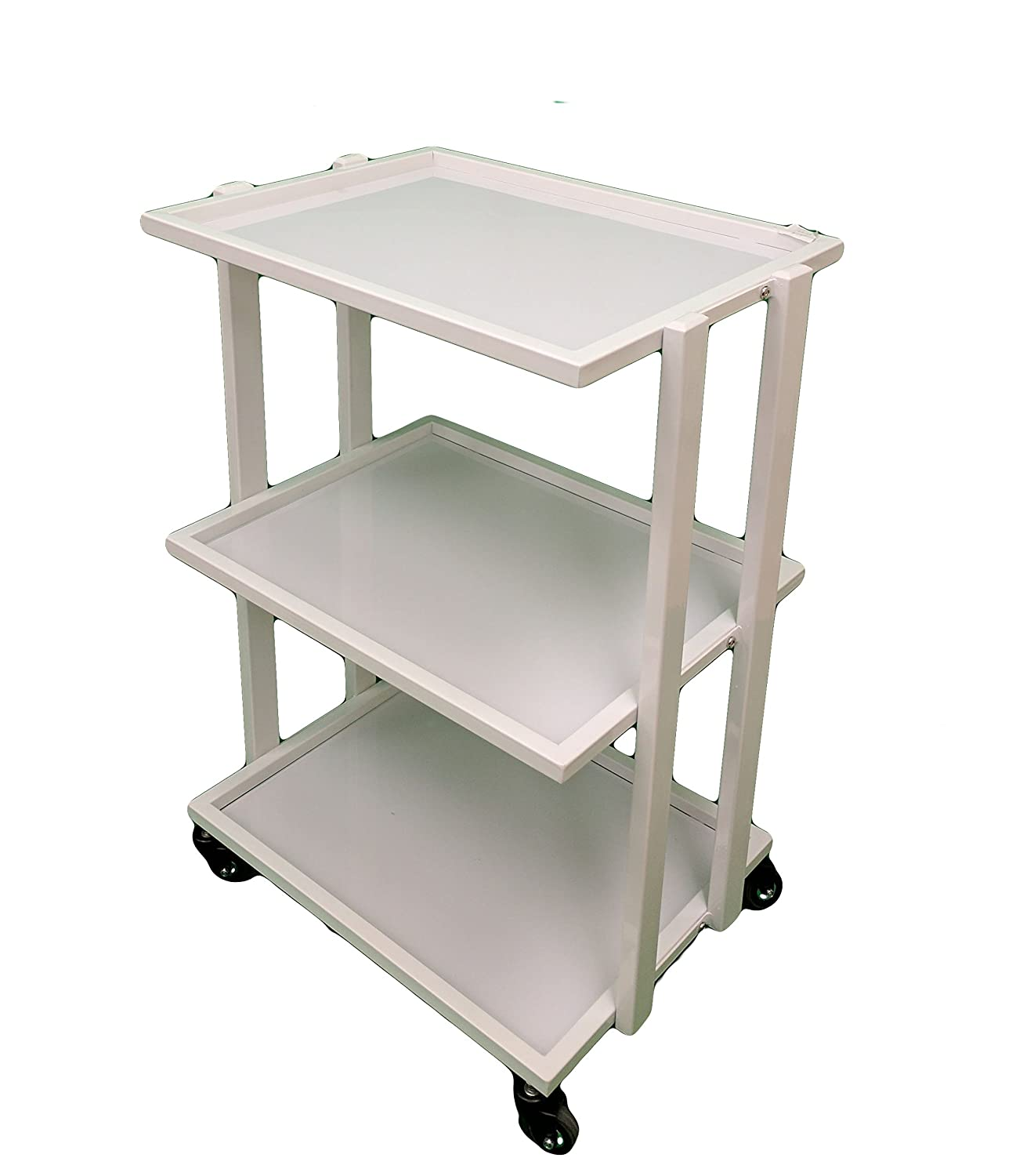 3 Shelve Tempered Glass Facial Trolley Salon SPA Equipment Cart Green Life
