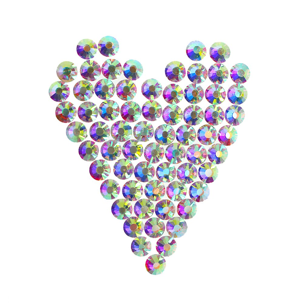 CREATRILL 1440Pcs SS12 Nail Glass AB Art Rhinestones Tiny Round Flatback Crystals Beads,1 boxs as gift to storage small Charms Gems Stones, for DIY Nail Decoration Makeup Clothes Shoes (3.1mm-3.3mm) Chengyuan