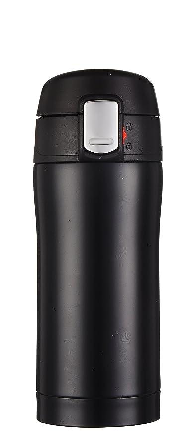 Kooyi Taza de café de viaje 250ml (8.5 Oz), Termo acero inoxidable BPA-free, 100% a prueba de fugas (negro)